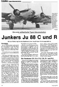 Flugzeug profile 085-086 - Junkers Ju88 Fighter