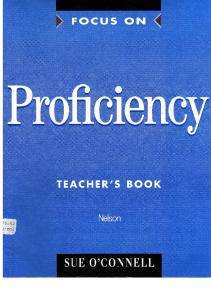 focus on proficiency teachers book