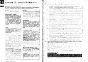 Forming a contract - structure