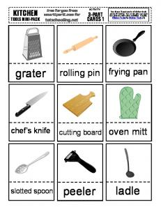 free_kitchen tools cards