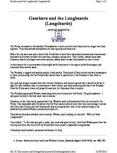 Gambara and the Longbeards