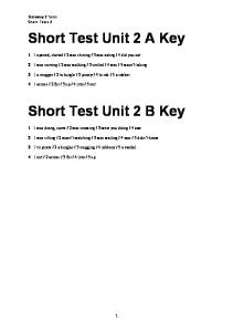 Gateway 2 Short Test Unit 2 key