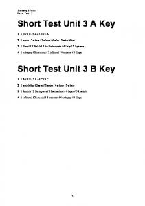 Gateway 2 Short Test Unit 3 key