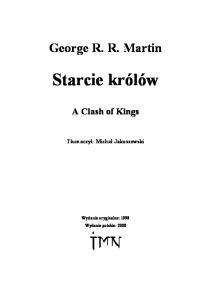 George R R Martin 2 Starcie krolow