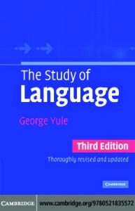 George Yule- The study of Language. 3rd ed