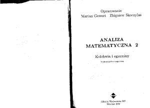 Gewert, Skoczylas - Analiza matematyczna 2 - Kolokwia i egzaminy