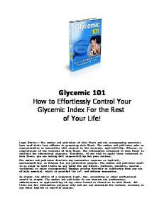 Glycemic ebook