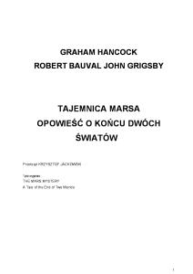 Graham Hancock - Tajemnica Marsa