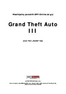 GTA 3 - Poradnik GRY-OnLine