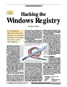 Hacking The Windows Regisrty