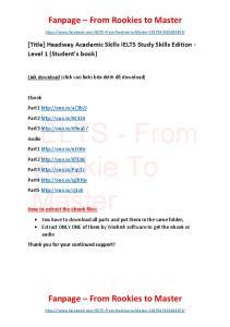 Headway Academic Skills IELTS Study Skills Edition - Level 1 (Students book)