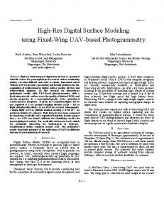 High-Res Digital Surface Modeling using Fixed-Wing UAV-based Photogrammetry