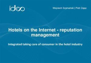 Hotels on the Internet reputation management