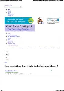 How much time does it take to double your Money_