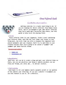 How to get Direct Referrals2