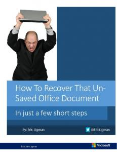 How To Recover Office Doc