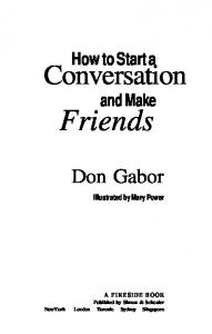 How to Start a Conversation and Make Friends - Don Gab