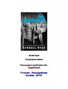 I Ryan Kendall Gentleman Mentor