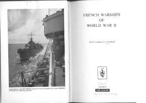 Ian Allan Publishing - French Warships Of World War II