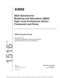 IEEE Std. 1516 2012-framework and rules