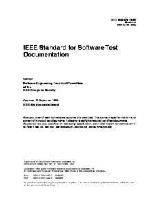 IEEE Std 829-1998