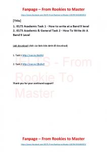 IELTS Academic Task 1, Task 2 - How to write at a Band 9 level