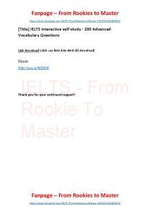 IELTS interactive self-study - 200 Advanced Vocabulary Questions