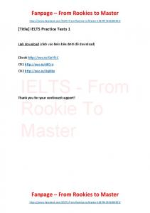 IELTS Practice Tests 1