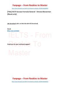 IELTS Success Formula General (Ebook only)