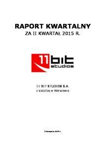 II Q 2015 11B skonsolidownay raport