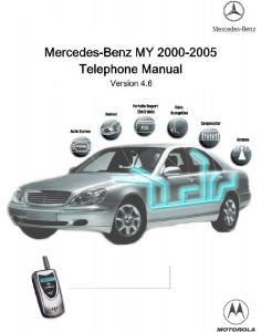 Instrukcja Obslugi Telefonu Mercedes-Benz 2000-2005 v4.6 [ENG]