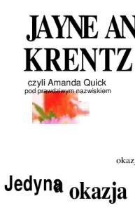Jedyna okazja - Quick Amanda
