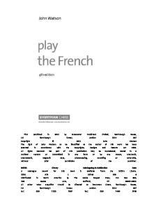 John Watson - Play the French, 4th edition