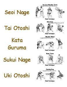 Judo Flash Cards