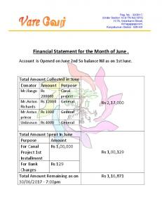 june month account statement summary