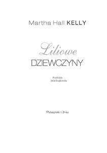 Kelly Martha Hall - Liliowe dziewczyny