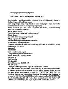 Kiyosaki R. - 3 Inwestycyjny poradnik bogatego ojca