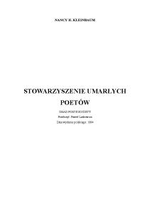 Kleinbaum Nancy H. - Stowarzyszenie umarlych poetow