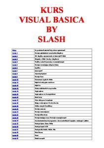 kurs Visual Basic