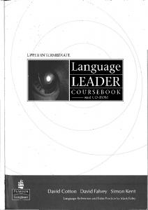 Language Leader Upper Intermediate Students Book