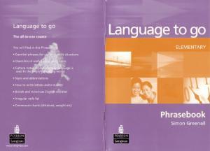 LANGUAGE TO GO Elementary Phrasebook
