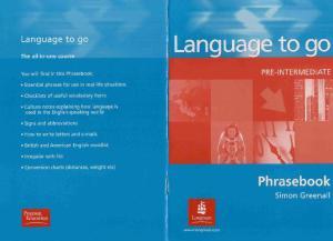 LANGUAGE TO GO Pre-Intermediate Phrasebook