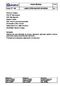 Lauril Eter Sulfato de Sodio