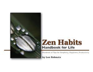 Leo Babauta - Zen Habits. Handbook for Life