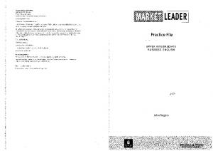 Longman Market Leader Practice File Upper Intermediate Business English John Roger