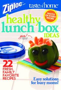 Lunch Box Ideas 2009