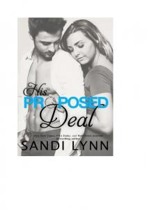 Lynn Sandi His Proposed Deal (+18)