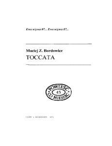 Maciej Z Bordowicz Toccata