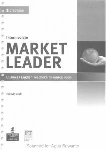 Market Leader 3rd Edition - Teachers Book - Interm ediate