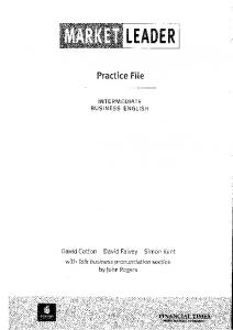 Market leader Practice File-intermediate 2004